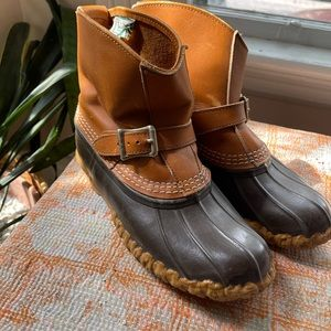 Vintage Made in the US LLBean Duck Boots